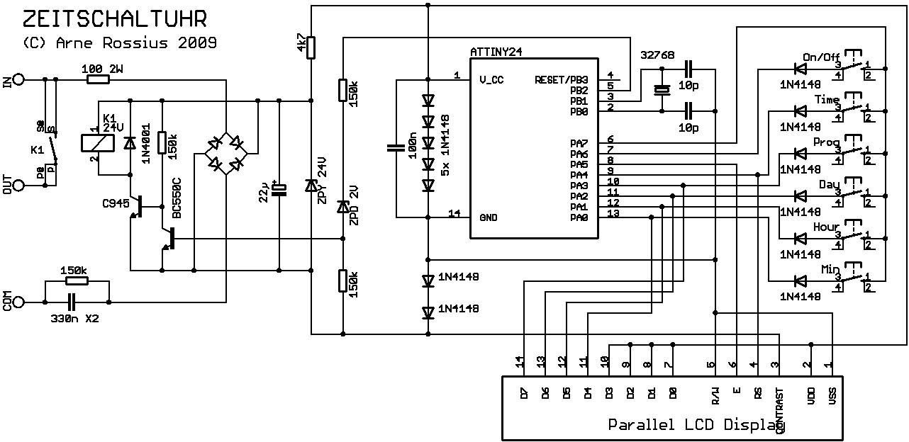 Elektronik.de.vu - Flexible Zeitschaltuhr mit 16 Programmspeicherplätzen