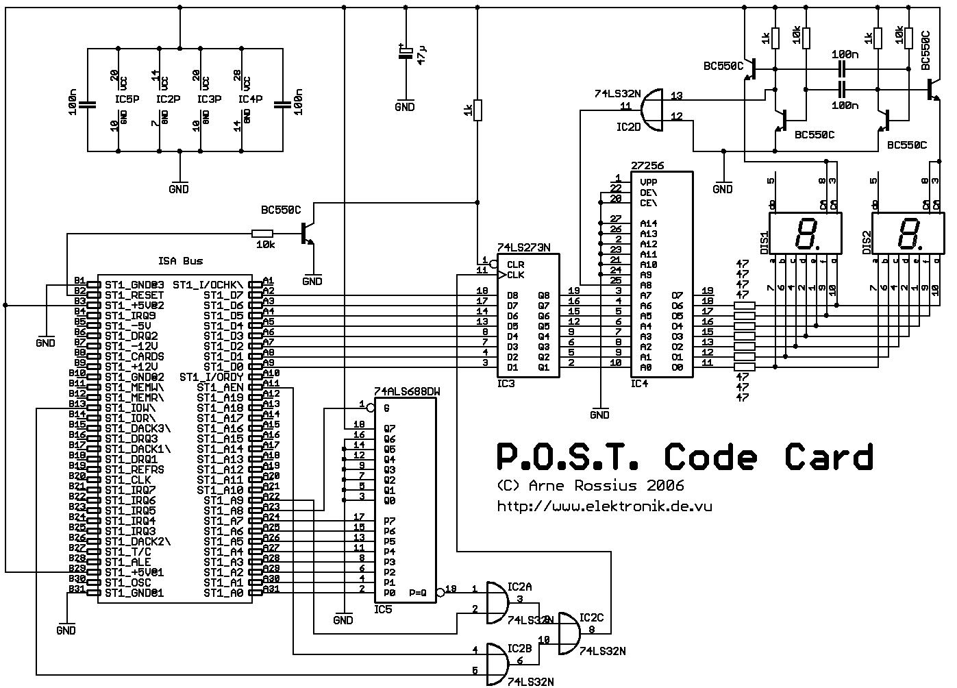 Elektronik.de.vu - ISA-Karte zur Anzeige des P.O.S.T.-Codes
