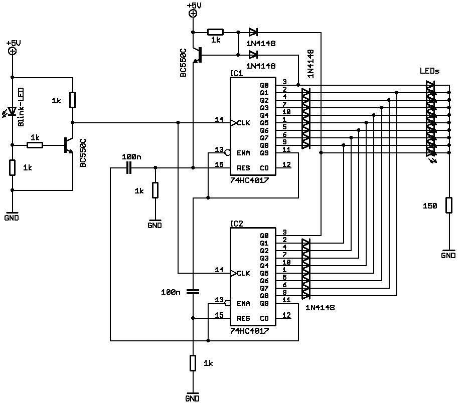 Elektronik.de.vu - Einfache Schaltung für ein Pendellauflicht mit 10 ...